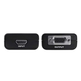 HDMI to VGA + 3.5mm Audio Adapter Video Converter - Black -$ FrontViewImage