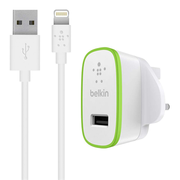 BOOST↑UP™ 12W USB-A Wall Charger + Lightning to USB-A Cable -$ HeroImage
