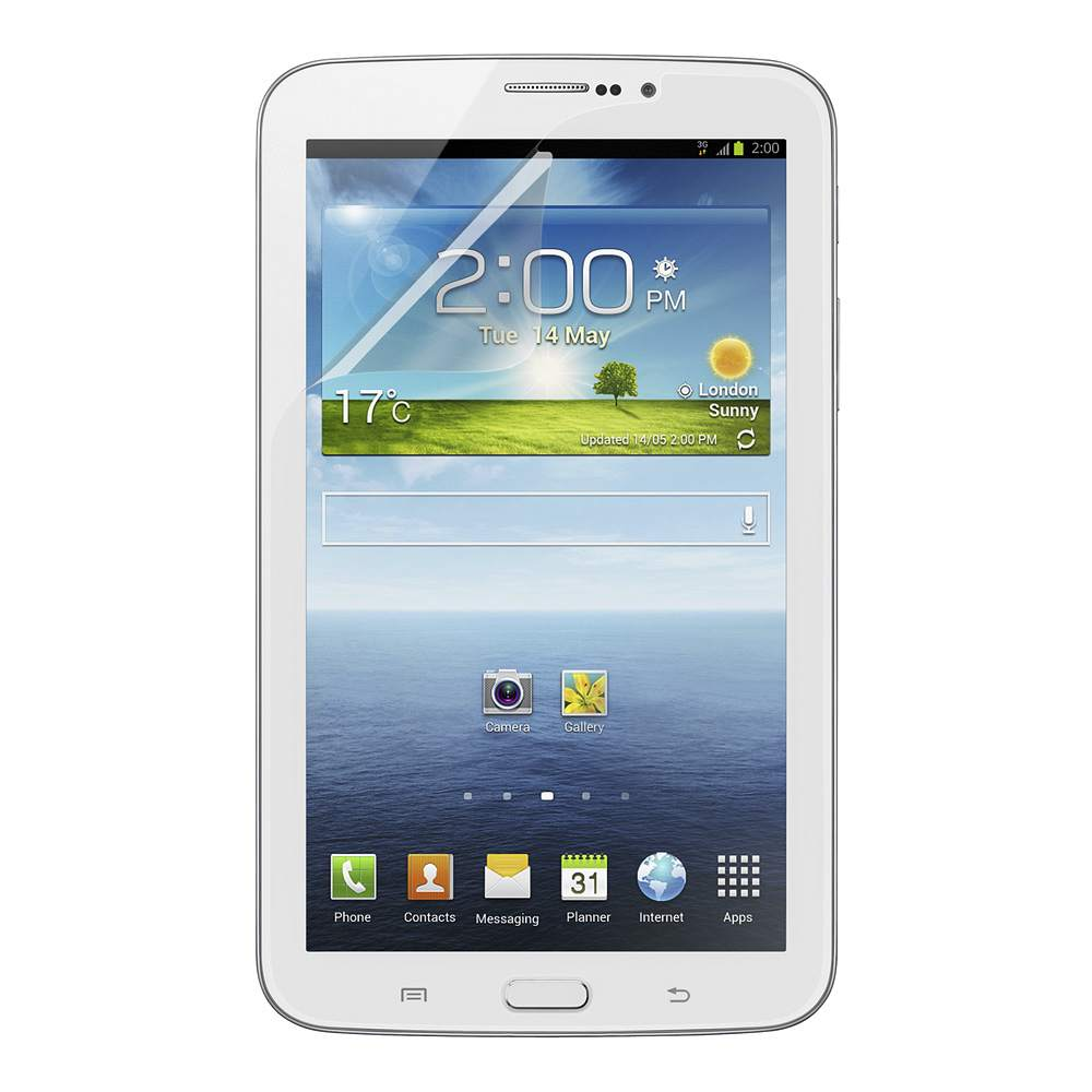 TrueClear Transparent Screen Protector for Samsung GALAXY Tab 3 7.0 - HeroImage