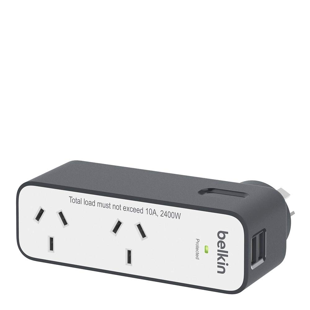 Surgeplus™ 2-Outlet USB DomesticTravel Surge