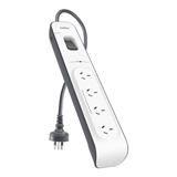 4-outlet Surge Protection Strip with 2M Power Cord -$ FrontViewImage