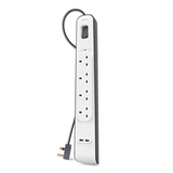 4 Outlets 2M Surge Protection Strip with 2 USB Ports -$ HeroImage