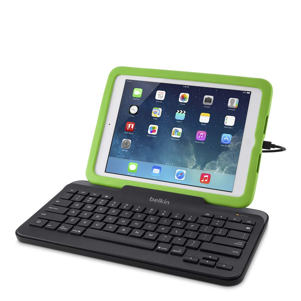 wired tablet keyboard w stand for ipad lightning connector. Black Bedroom Furniture Sets. Home Design Ideas