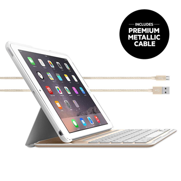 Qode Ultimate Pro Keyboard Case For Ipad Air 2 App Enabled White