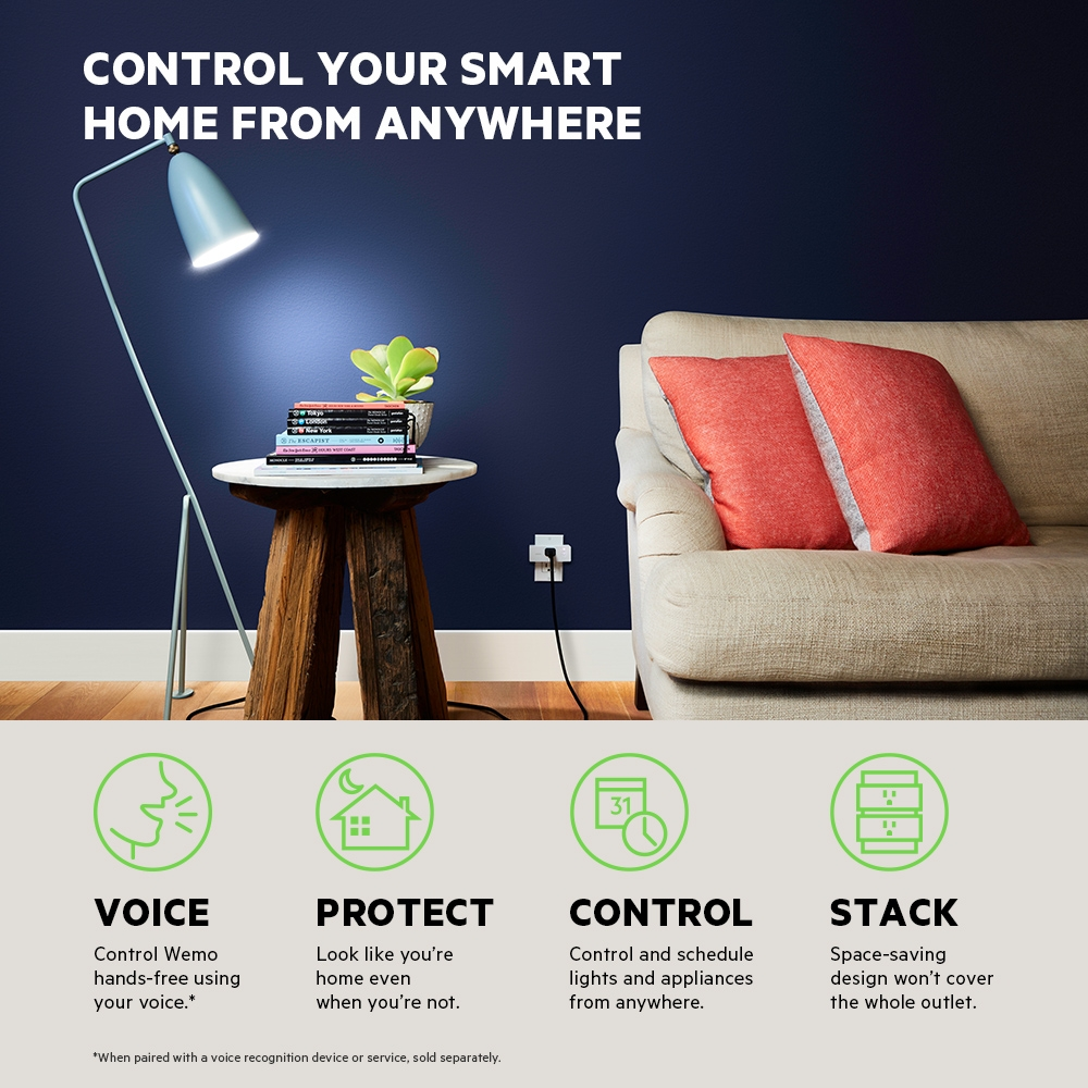 Wemo Mini Wifi Smart Plug Network Power Switch How To Protect Your Electrical Equipment With An Sideview1image
