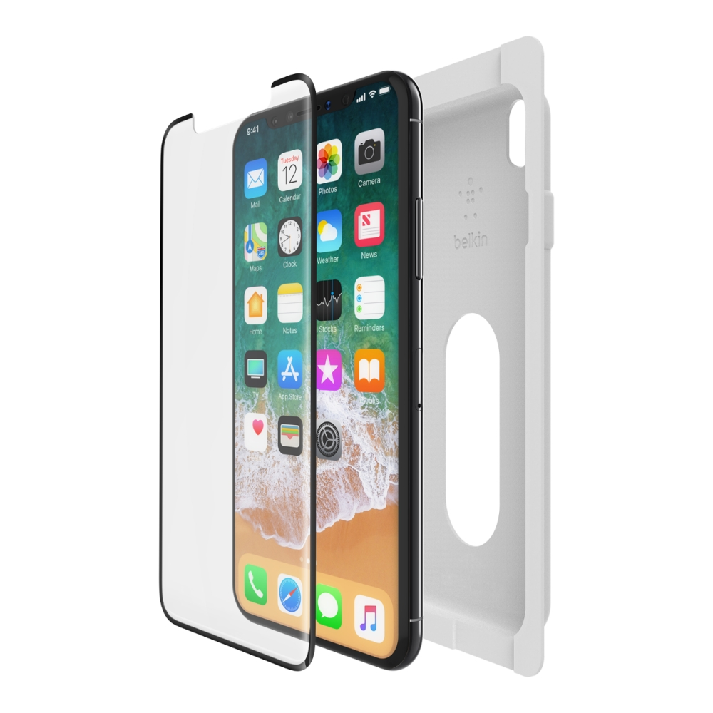 belkin screenforce® temperedcurve screen protection for iphone xs / x