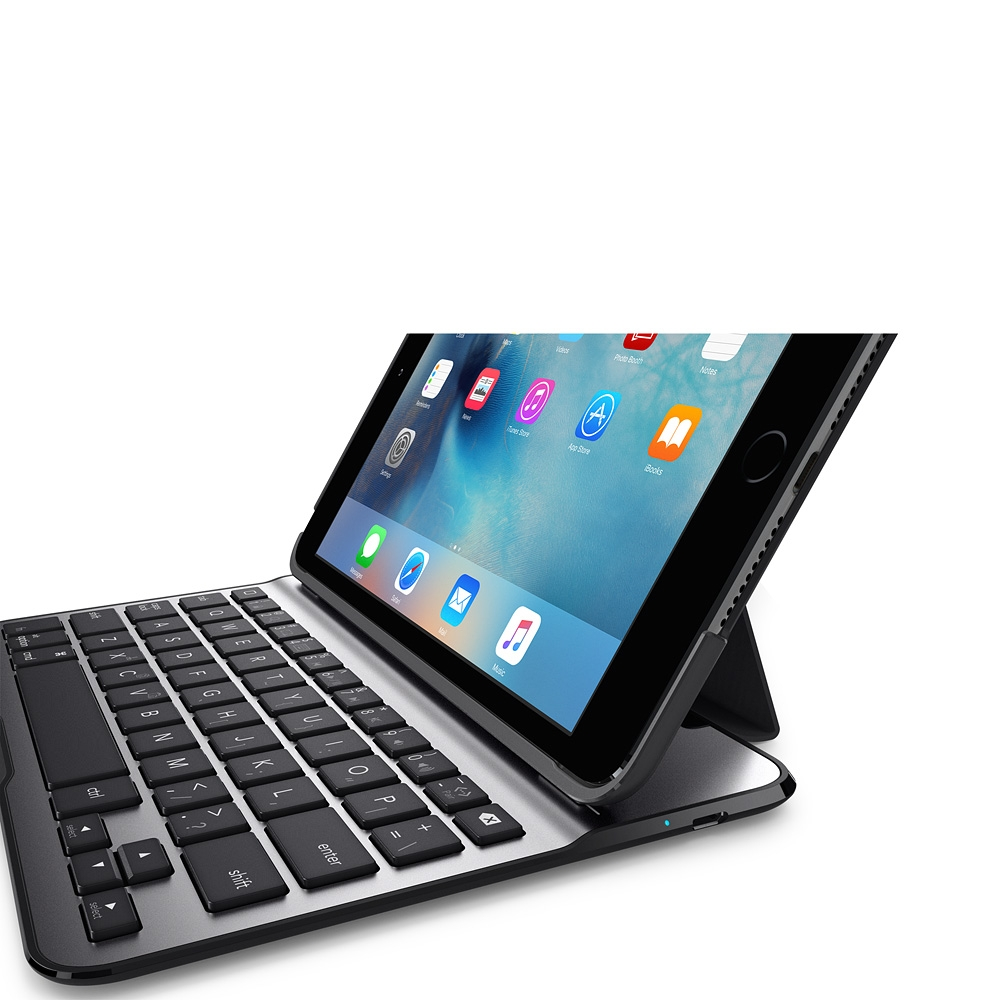 Belkin Qode Ultimate Lite Keyboard Case For Ipad Mini 4 Multimedia K 1000 Sideview1image
