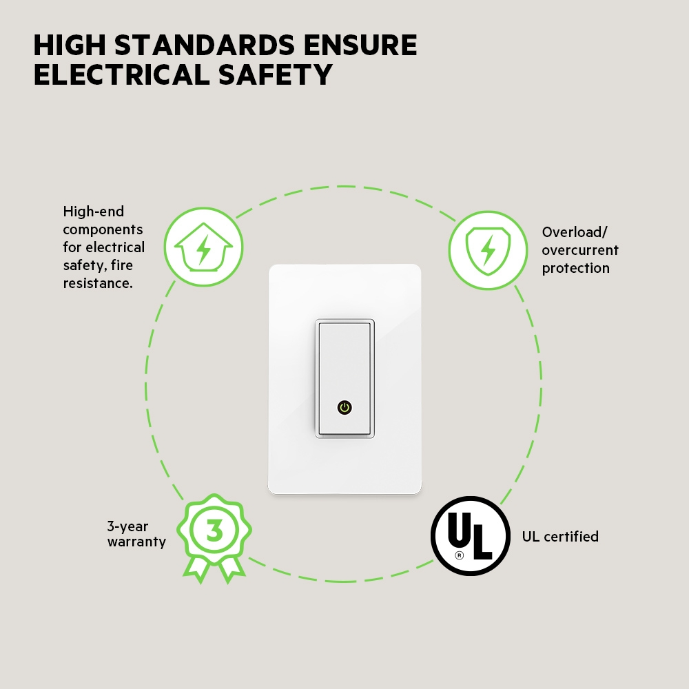 Wemo Wi Fi Smart Light Switch Dual 3 Watt Led Lamp Schematic Frontviewimage