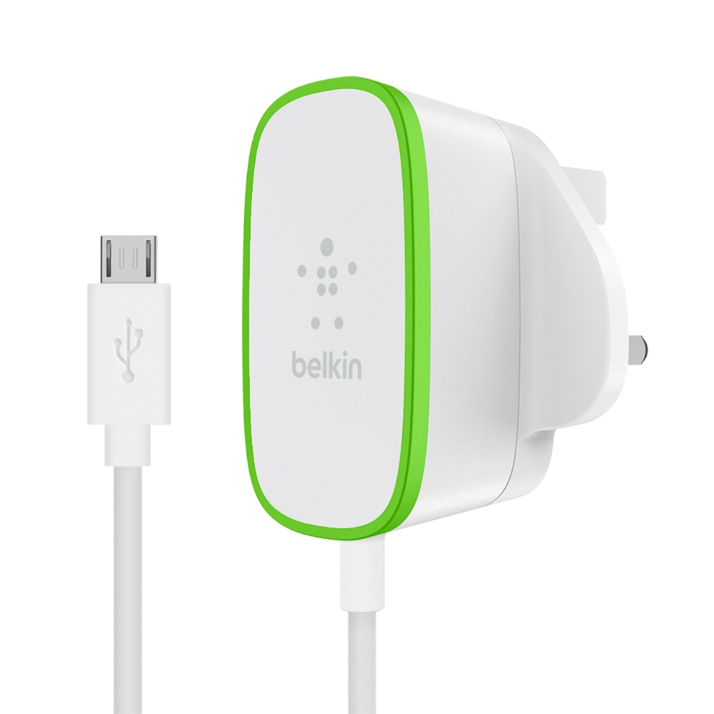 12W USB-A Wall Charger with hardwired Micro-USB Cable - HeroImage