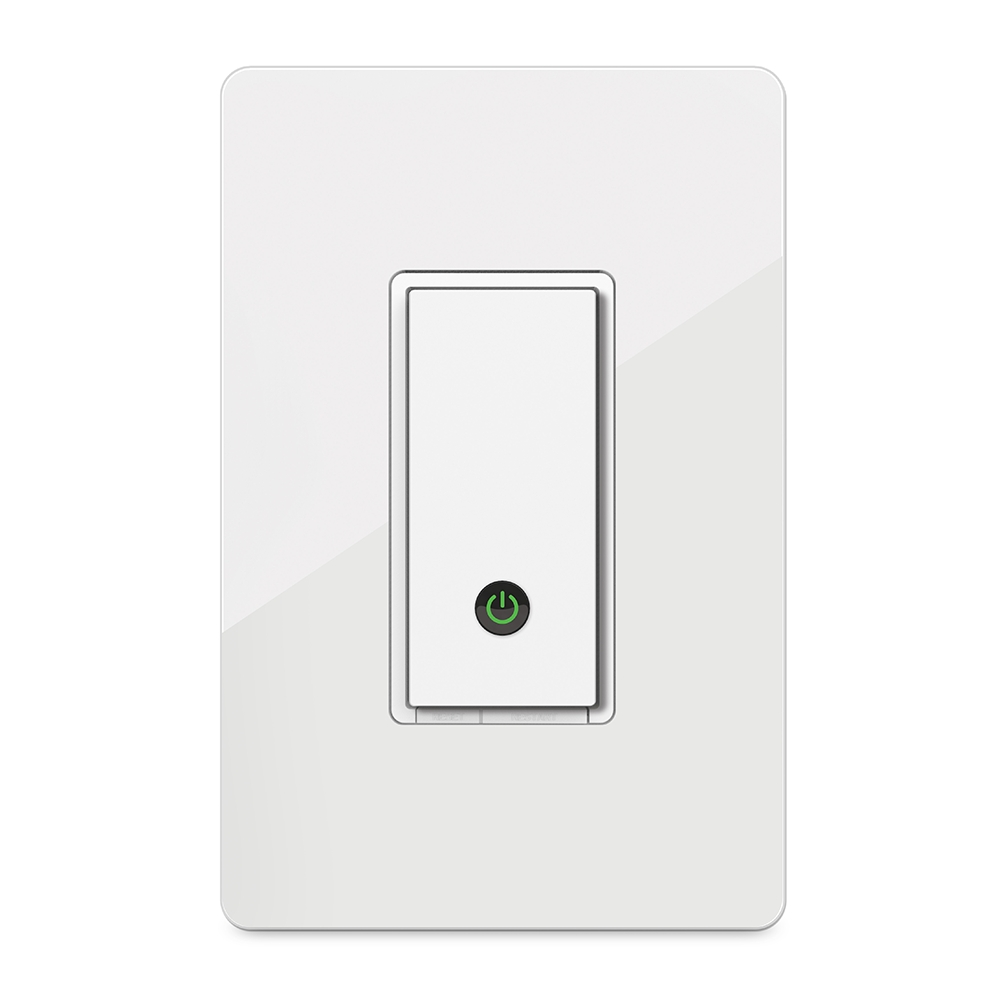Wemo Wi Fi Smart Light Switch 15 Amp Single Pole Toggle With Side And Push Wiring White Heroimage