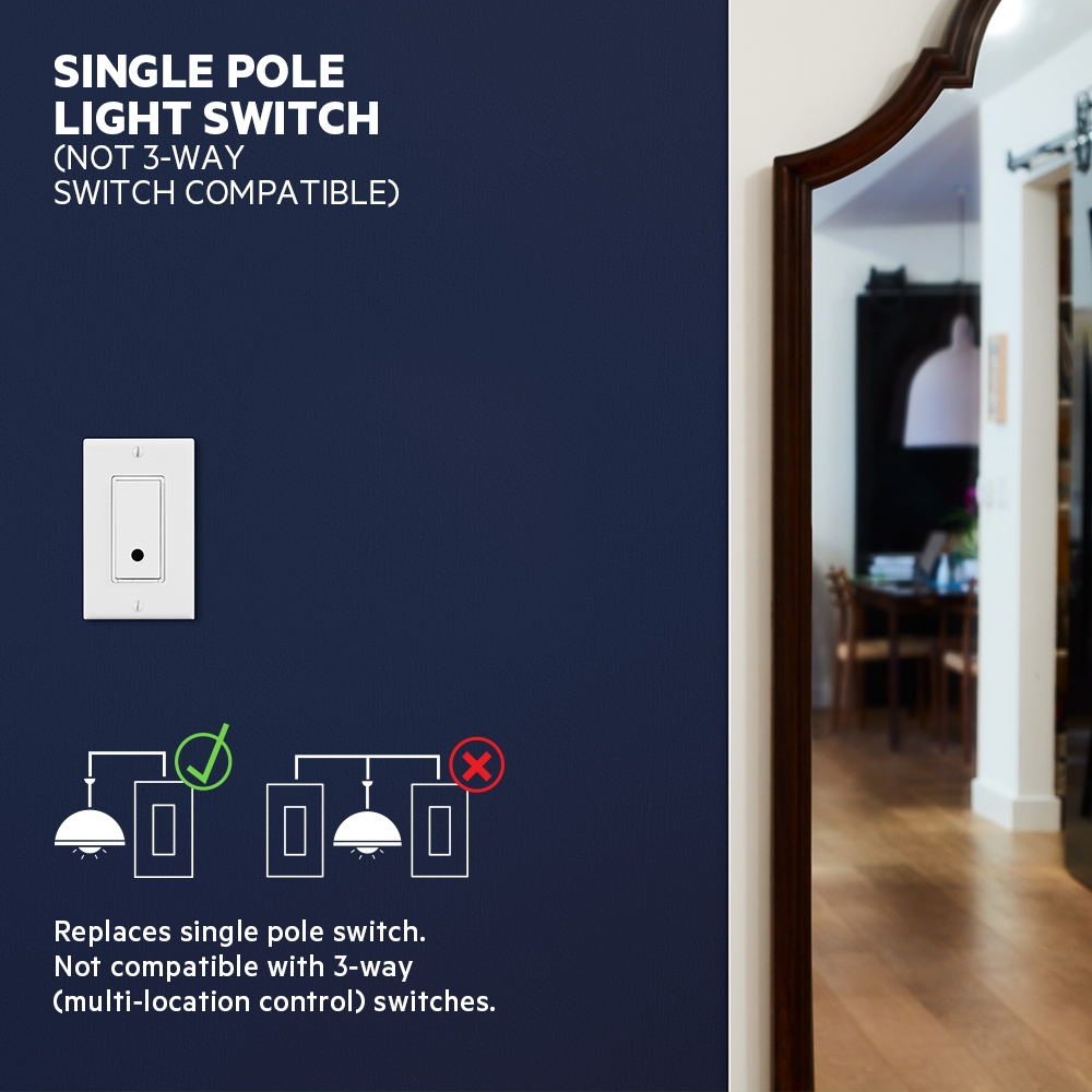 Wemo Wi Fi Smart Light Switch Turns On Off The And One 2way That Fan Frontviewimage