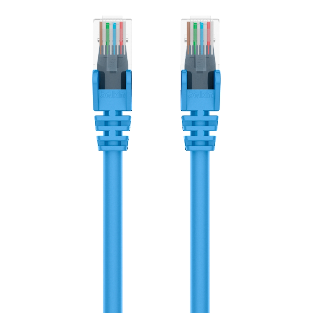 Cat6 Snagless Patch Cable, 10 Feet  Blue - HeroImage