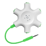 RockStar 5-Jack 3.5 mm Audio Headphone Splitter -$ HeroImage
