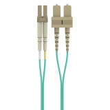 Fiber Optic Cable: 10Gb Aqua Multimode LC/SC Duplex, 50/125 OM3 -$ HeroImage