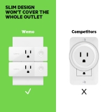 Wemo Mini Smart Plug Bundle 2-Pack -$ SideView1Image