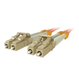 Fiber Optic Cable; Orange Multimode LC/LC Duplex, 50/125 OM2 -$ SideView1Image