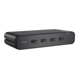 Belkin Secure Dual-Head DVI-I-KVM-Switch, 4-Port -$ SideView1Image