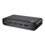 Belkin Secure Dual-Head DVI-I KVM Switch, 4-Port with CAC -$ SideView1Image
