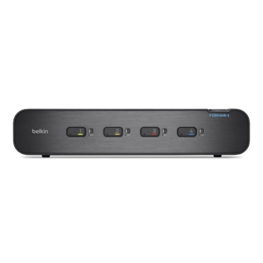 Belkin Secure DisplayPort KVM Switch, 4-Port, Dual-Head with CAC