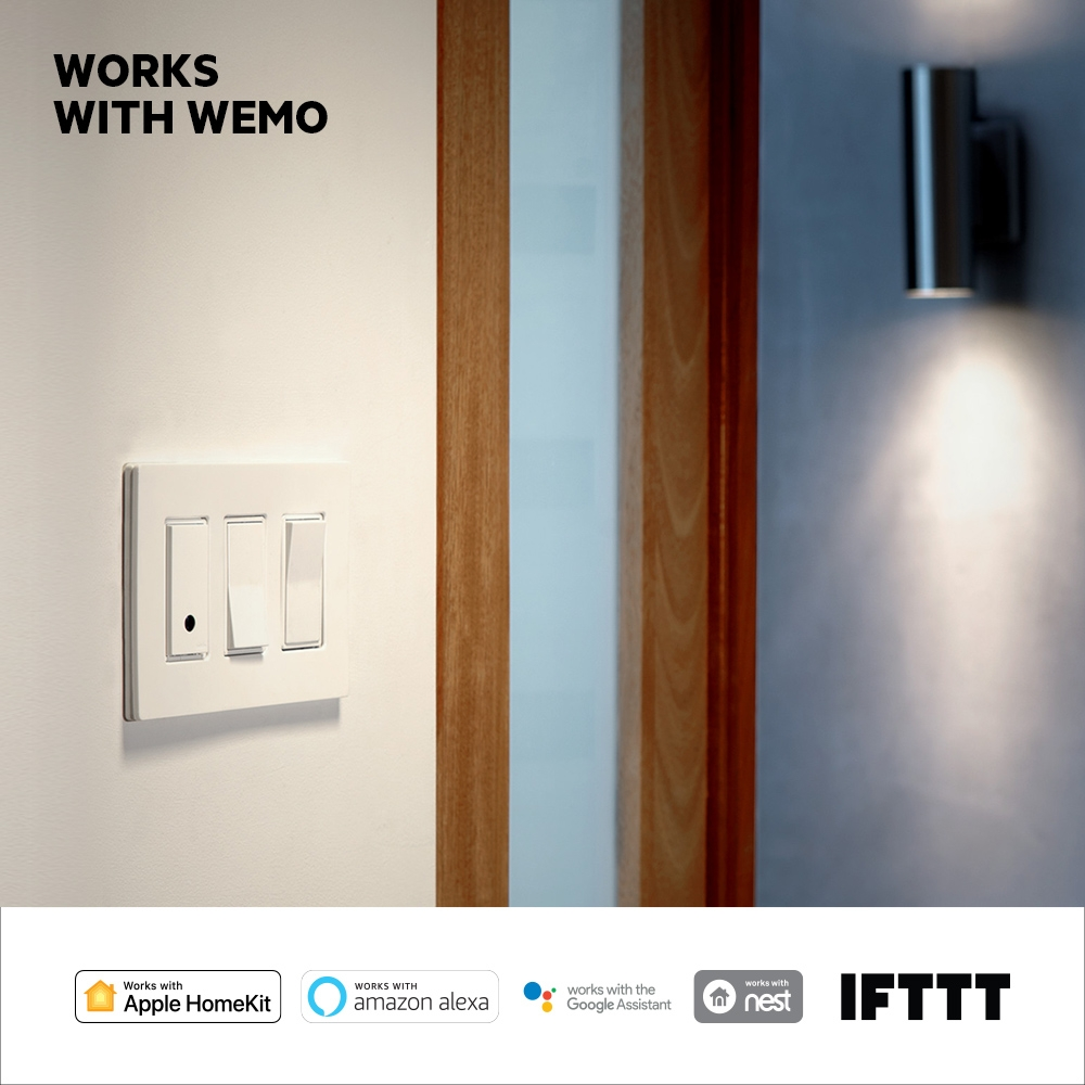 Wemo Wi Fi Smart Light Switch Led Indicator For Remote Ac Loads Frontviewimage