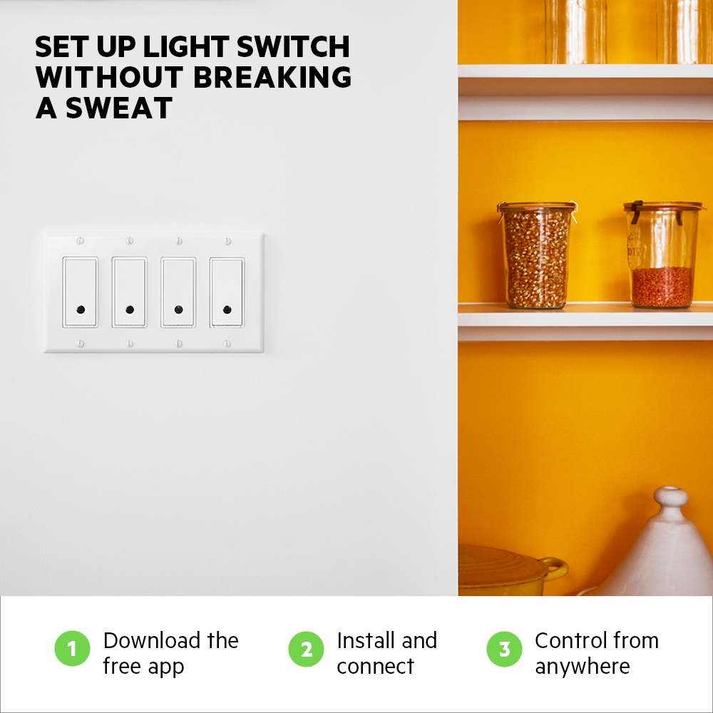 Wemo Wi Fi Smart Light Switch One Gang Two Way Frontviewimage