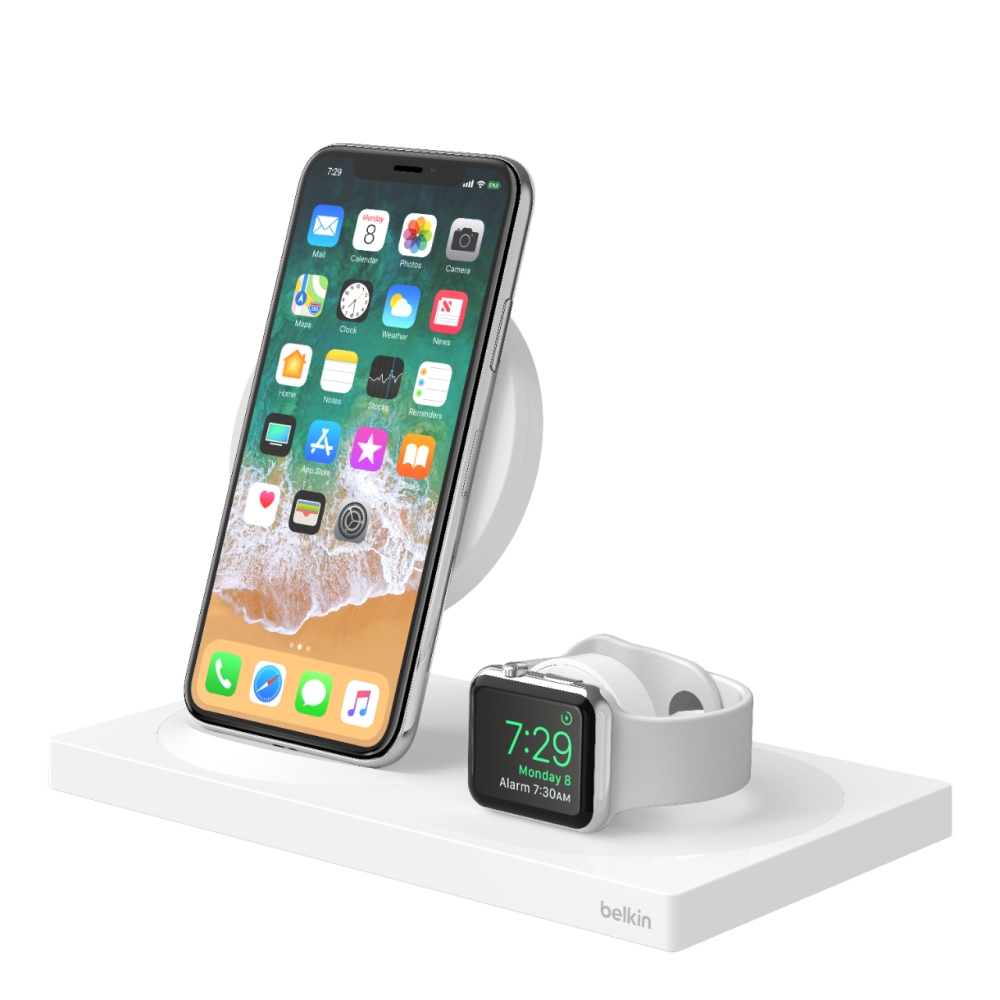 low priced 01d53 f3bc4 BOOST↑UP™ Special Edition Wireless Charging Dock for iPhone + Apple Watch +  USB-A port