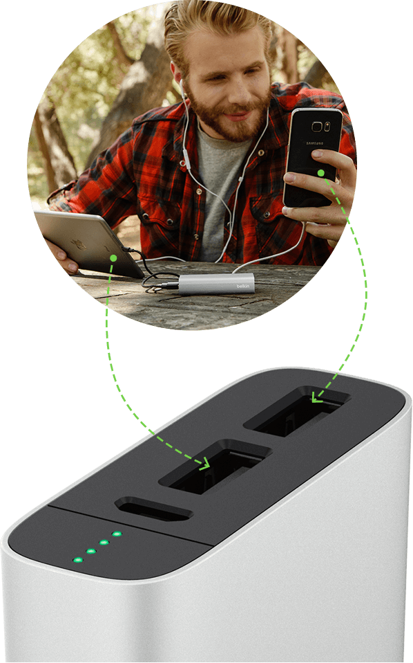 power bank Charge with multiple ports