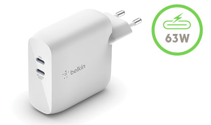Cargador de pared doble GaN USB-C