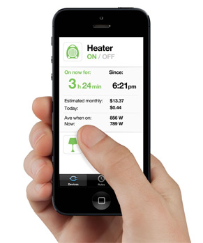 Show home energy usage