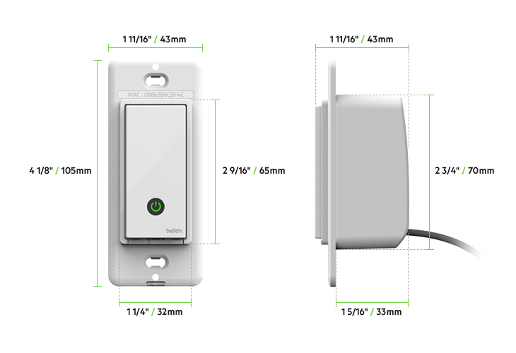 Wemo® Wi-Fi Smart Light Switch on