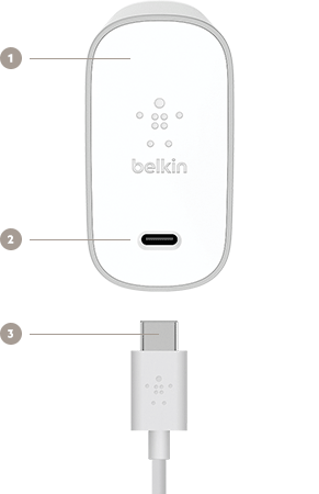 belkin usb-c™ 45w home charger + cable belkin power cord wire diagram apple usb power cord wire diagram