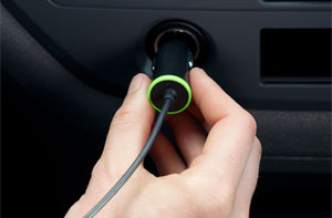 Belkin Coiled Car Charger with Built-In Lightning connector