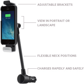 Car Navigation + Charge Mount for iPhone 5/5s