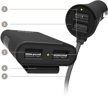 Buy The Belkin Road Rockstar 4 Port Usb Car Charger