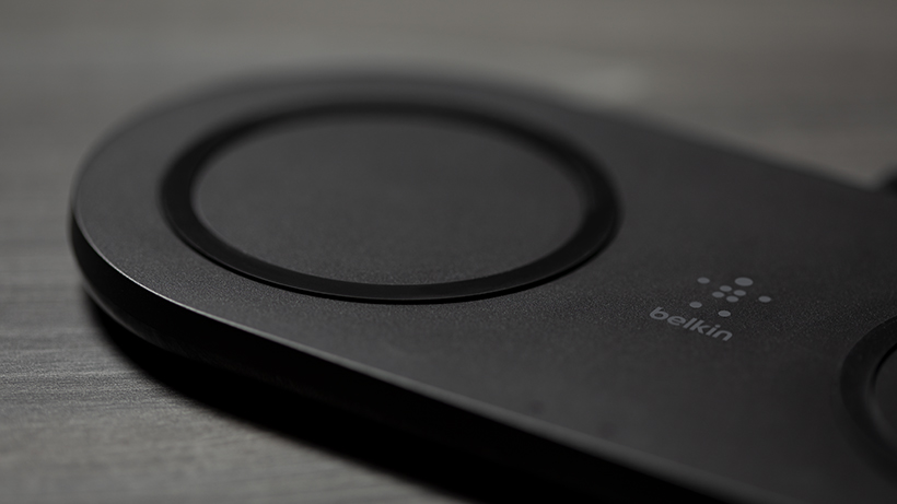 Close up of the BOOST↑CHARGE Dual Wireless Charging Pad