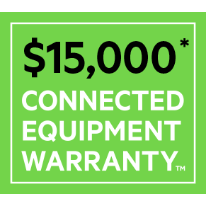 Connected Equipment Warranty to protect connected devices up to $15,000.