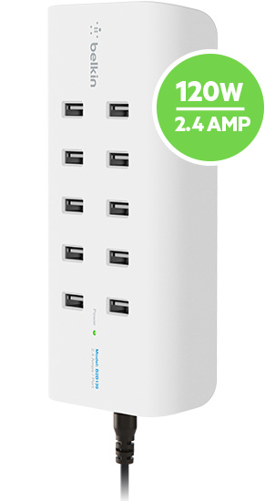 Built in 10-port USB charging station provides the most efficient charge to your devices.