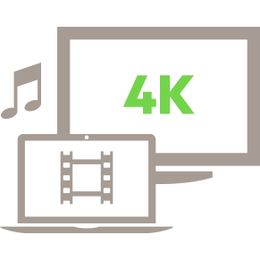 Ultra HD 4K Video and Audio Icon