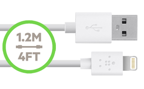BOOST UP Home Charger with Lightning to USB Cable (12 Watt/2.4 Amp)