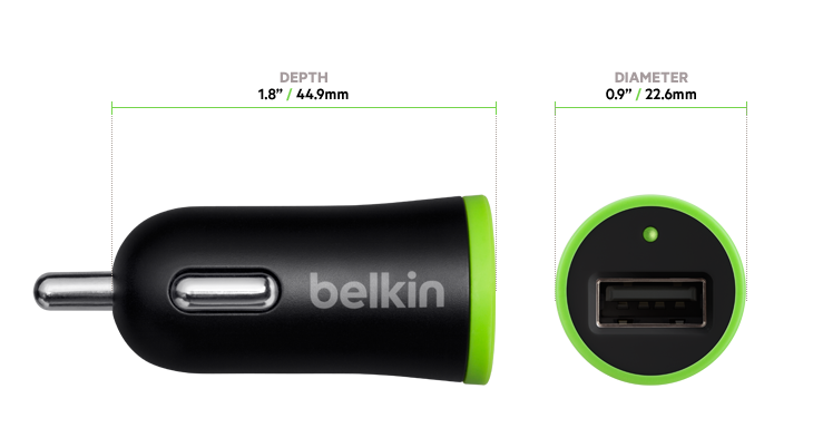 Belkin Universal Car Charger With Micro Usb Chargesync Cable 12