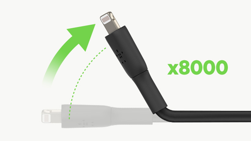 Belkin Boost↑Charge Cable being bent at an angle