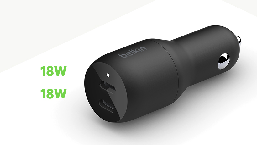 BOOST↑CHARGE Dual USB-C Car Charger