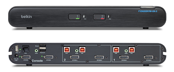 Front and Back of the KVM Switch