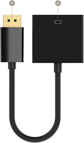 Adaptador de vídeo de DisplayPort a DVI de Belkin (20,3 cm). - F2CD005B - Diagrama
