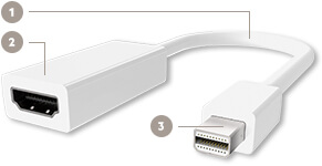Mini DisplayPort to HDMI Adapter, Mini DisplayPort-M/HDMI-F - Diagram