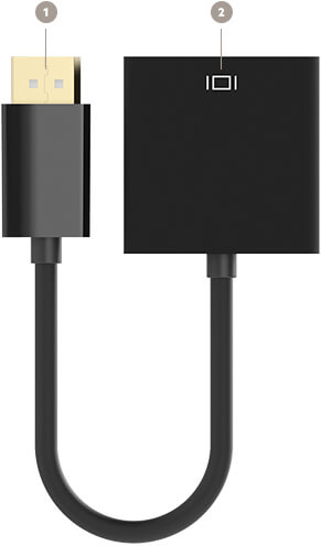 Belkin Displayport to VGA Adapter diagram