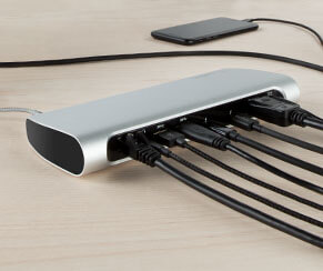 Thunderbolt technology provides high speed data transfer, the application for HD and 5K video, power delivery to your connected devices