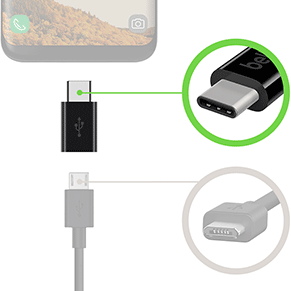 Micro-USB cables to USB-C