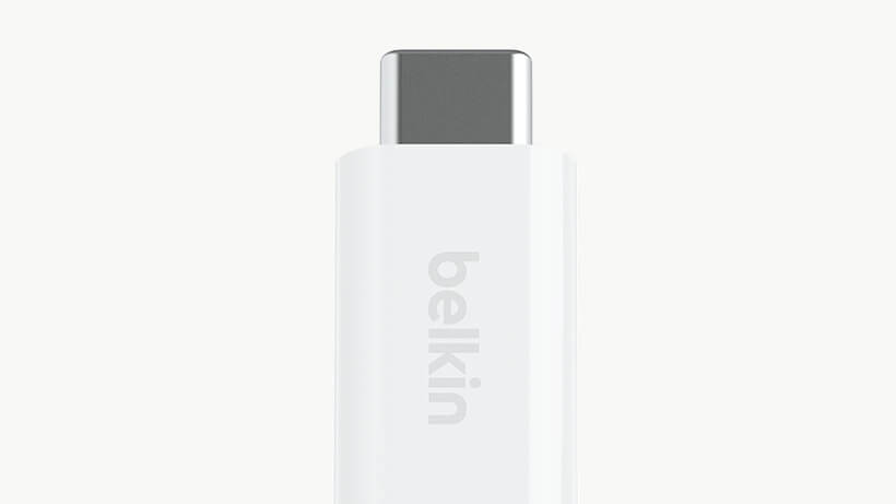 Close-up of RockStar™ Lightning Audio to USB-C™ Adapter