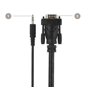 Belkin VGA + 3.5mm Audio Monitor Cable, HD15 M/M, UXGA - Diagram